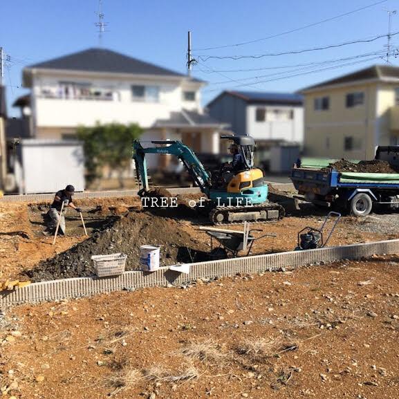 基礎工事 順調に進んでいます。