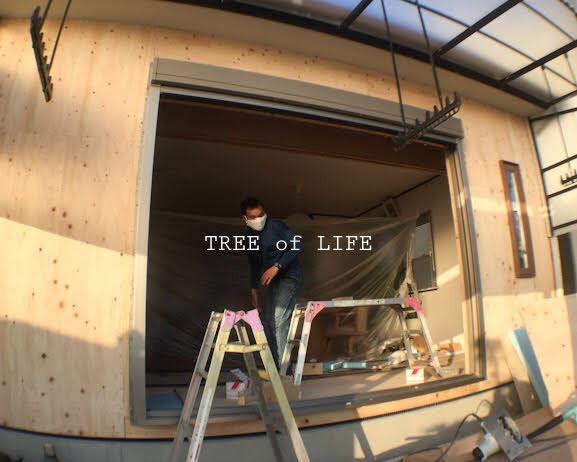 外壁に合板が施工されました!