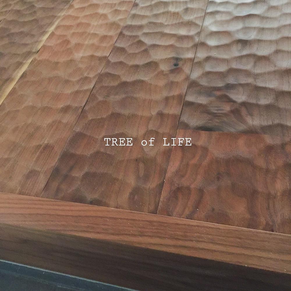 玄関框 上り框 ブラックウォールナット 名栗加工
