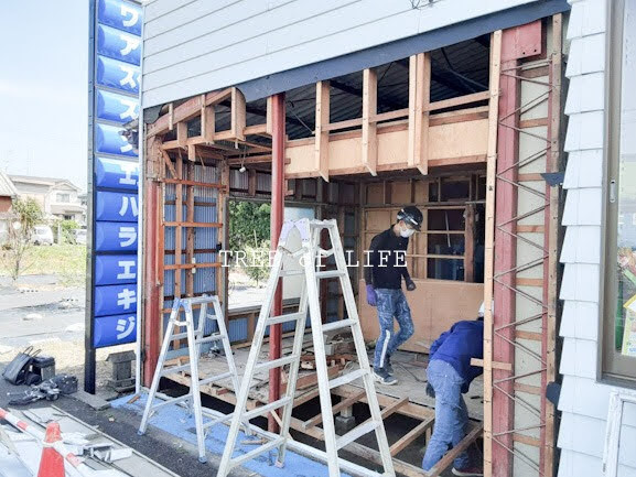 浜松市 大瀬モータース様ショールーム 施工開始