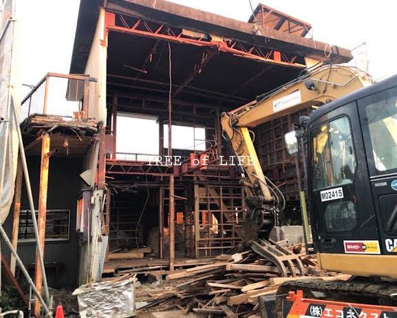 建物解体中