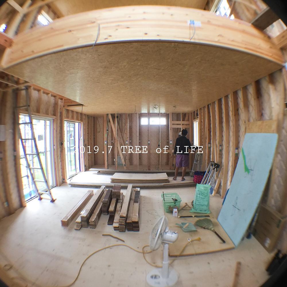 1階リビング|無垢の木の家|クリエイティブAG|磐田市
