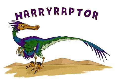 Blankoraptor: Personalised A3 Dinosaur Print