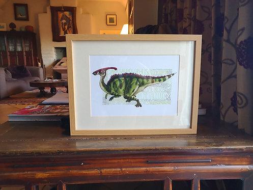 Parasaurolophus Fact-file Print