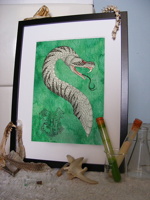 Slytherin Serpent A4 Print