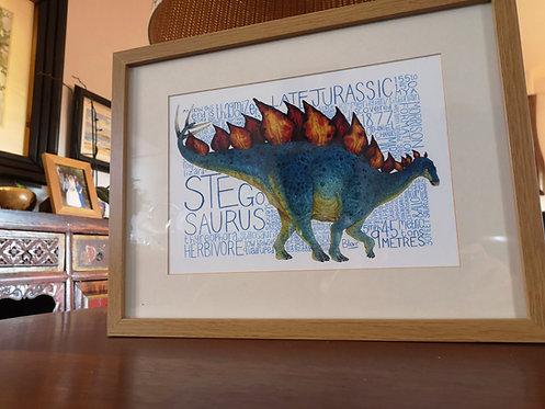 Stegosaurus Fact-file Print