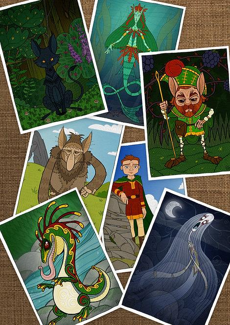 Irish Mythology A5 Print Set