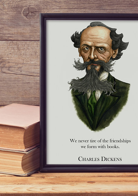 Charles Dickens Wall Quote