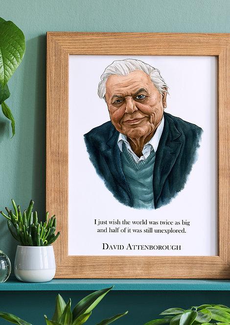David Attenborough Wall Quote
