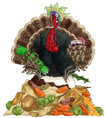 Christmas Turkey - Original Artwork