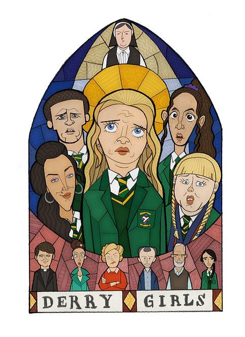 Derry Girls A4 Print