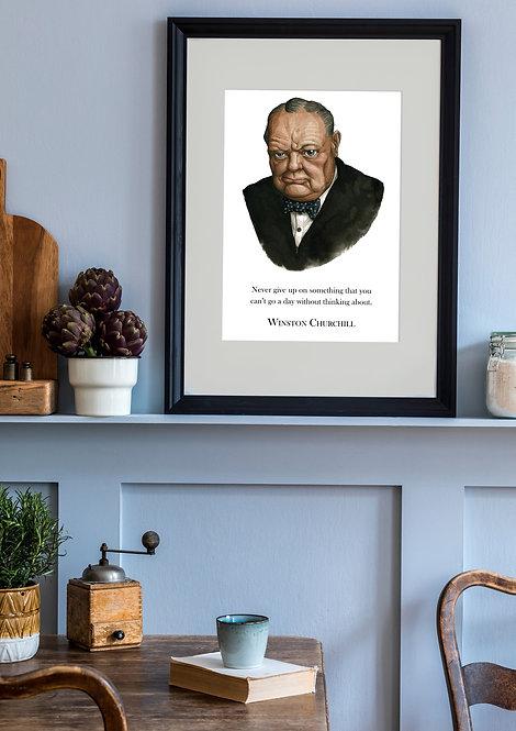 Winston Churchill Wall Quote