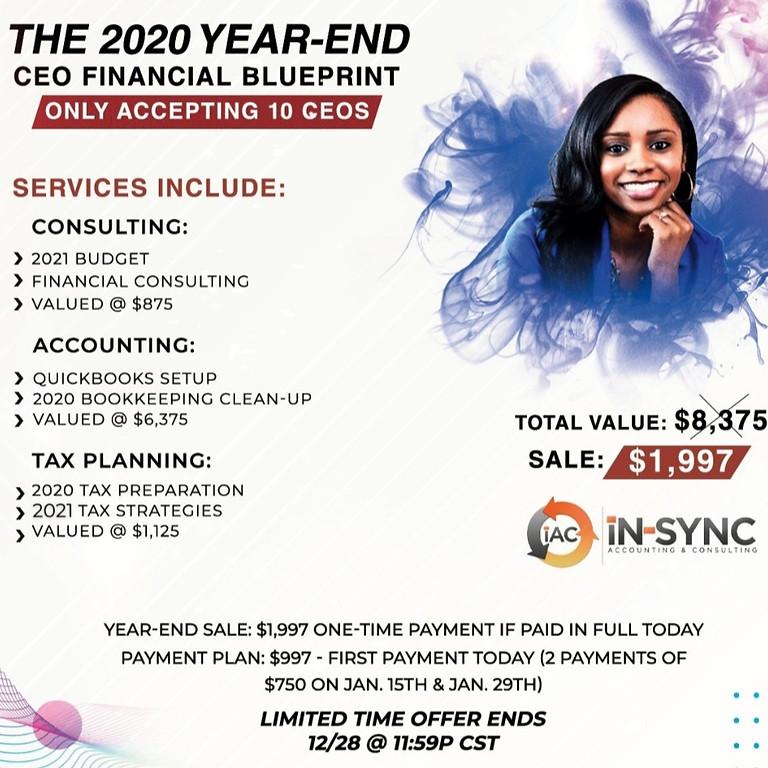 2020 Year-End CEO Financial BluePrint