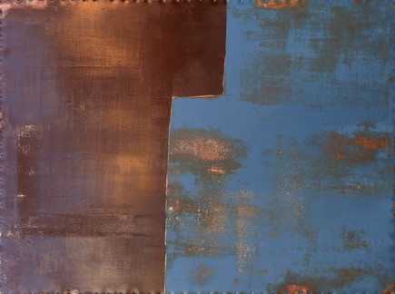 AS-11, Blue and Brown enamel paint on steel