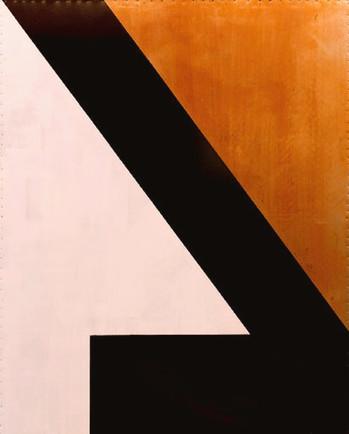 AS-4, White, Diagonal Black, Rust on Steel.