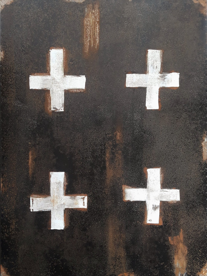 AS-21, Black with White Crosses on steel