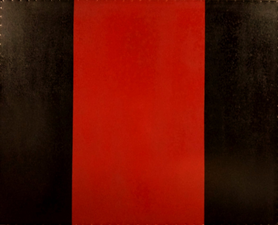 AS-17, Black with Red enamel paint on steel