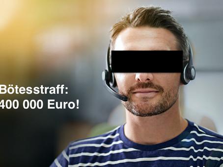 Grekiskt telemarketingföretag straffades med sanktionsavgifter på över 4 miljoner kr!