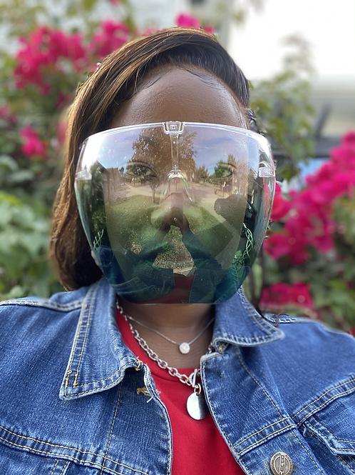 Green Protective Face Shield