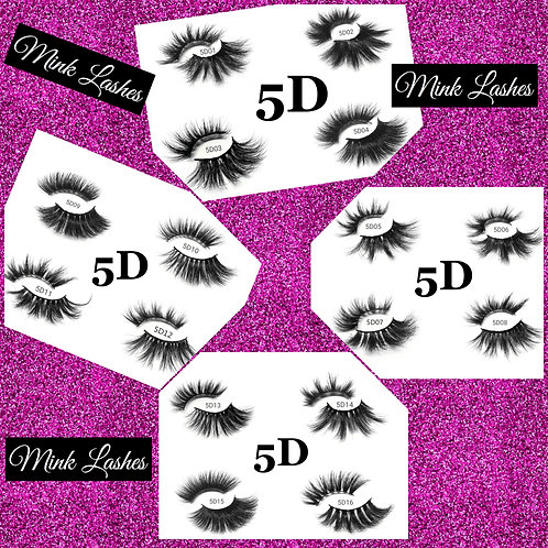 5D 25mm Mink Lashes