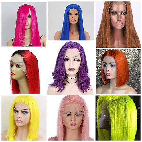 *Colored Straight Lace Wigs