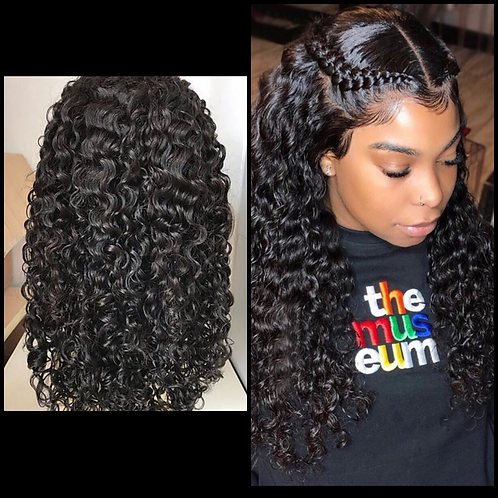 *Curly Lace Wig- 150% Density