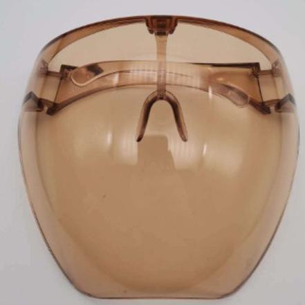 Tan/Brown Protective Face Shield