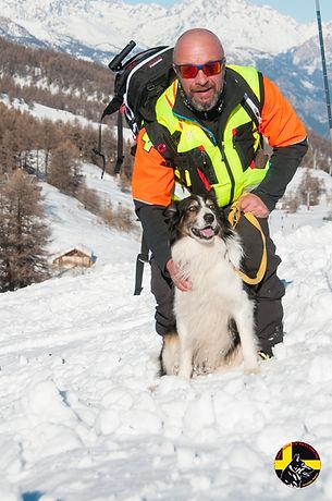 Maître chien d'avalanche Orcières Merlette Hautes-Alpes