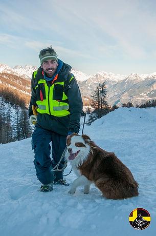 Maître chien d'avalanche La grave, La Meije Hautes-Alpes