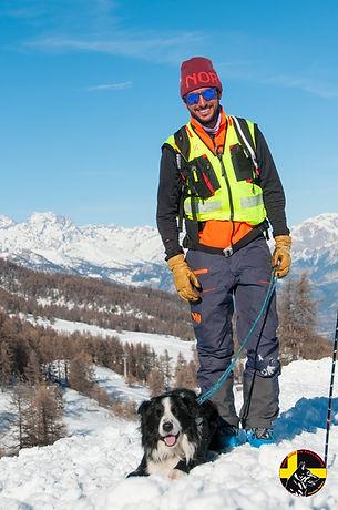 Maître chien d'avalanche Montgenèvre Hautes-Alpes