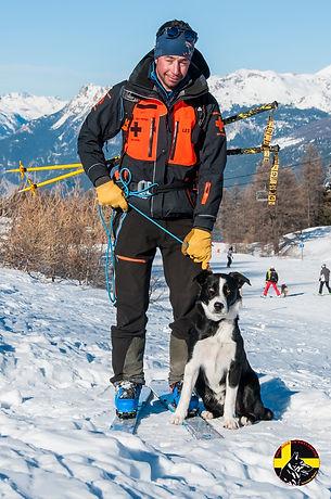 Maître chien d'avalanche Les Orres Hautes-Alpes
