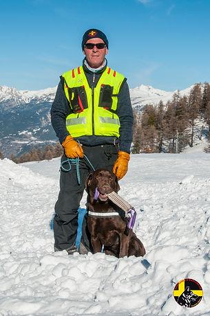 Maître chien d'avalanche Serre Chevalier Hautes-Alpes