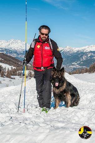 Maître chien d'avalanche Vars Hautes-Alpes