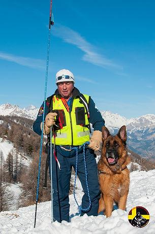 Maître chien d'avalanche Puy Saint Vincent Hautes-Alpes