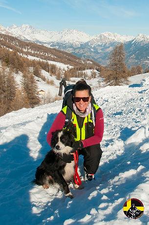 Maître chien d'avalanche Saint Léger les Mélèzes Hautes-Alpes