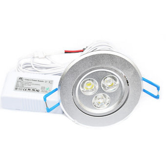 NDA RECESSED DOWN LIGHT - 3W (SILVER FIXTURE)
