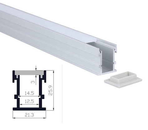 """LED FLOOR EXTRUSION FIXTURE - 1.1"""" (H) x 0.84"""" (H)"""