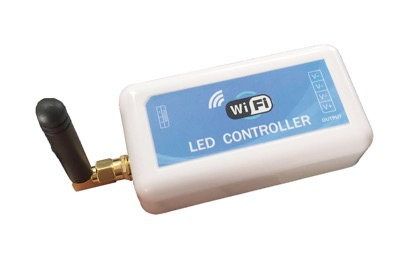WIRELESS WIFI CONTROLLER FOR SINGLE COLOR LED (12V OR 24V DC)