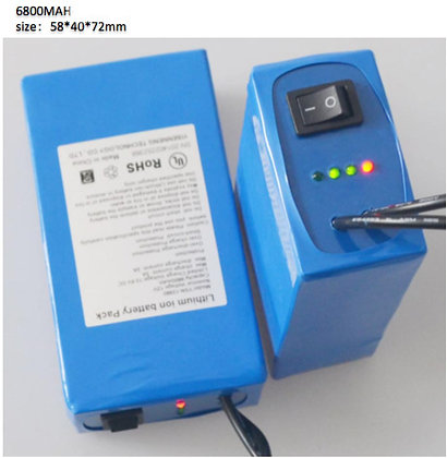 RECHARGEABLE 12V DC BATTERY PACK, 6800mAh
