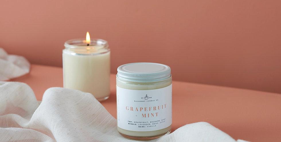 Grapefruit + Mint Soy Candle