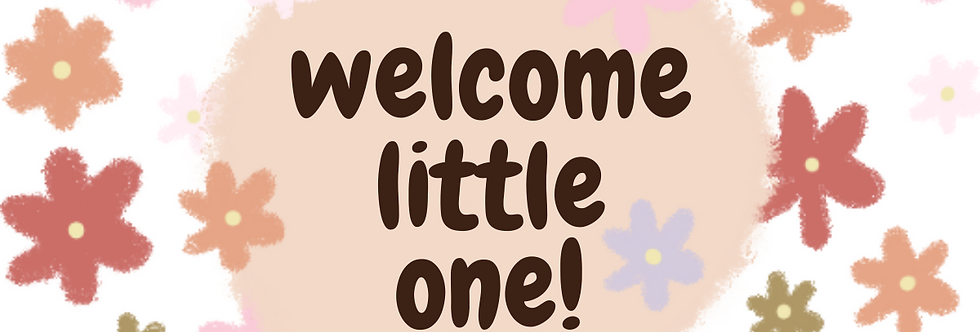 Welcome Little One Label