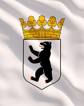 Berlin Coat of Arms on White Flag