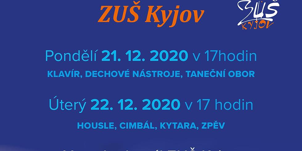 Vánoční online (dvoj)koncertík ZUŠ Kyjov