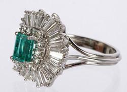 Emerald & Diamond Ballerina Ring