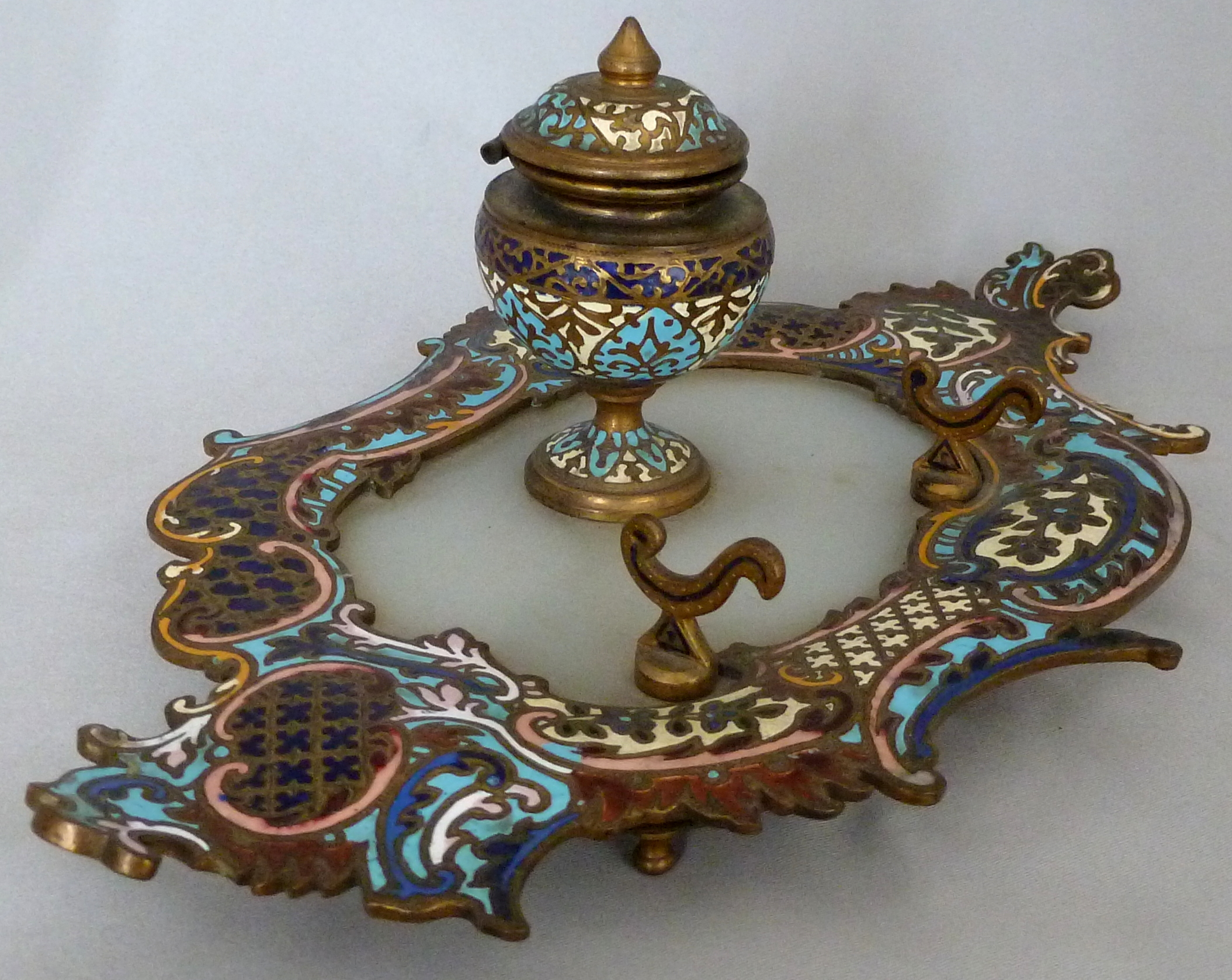 Cloisonne Inkwell 023-001