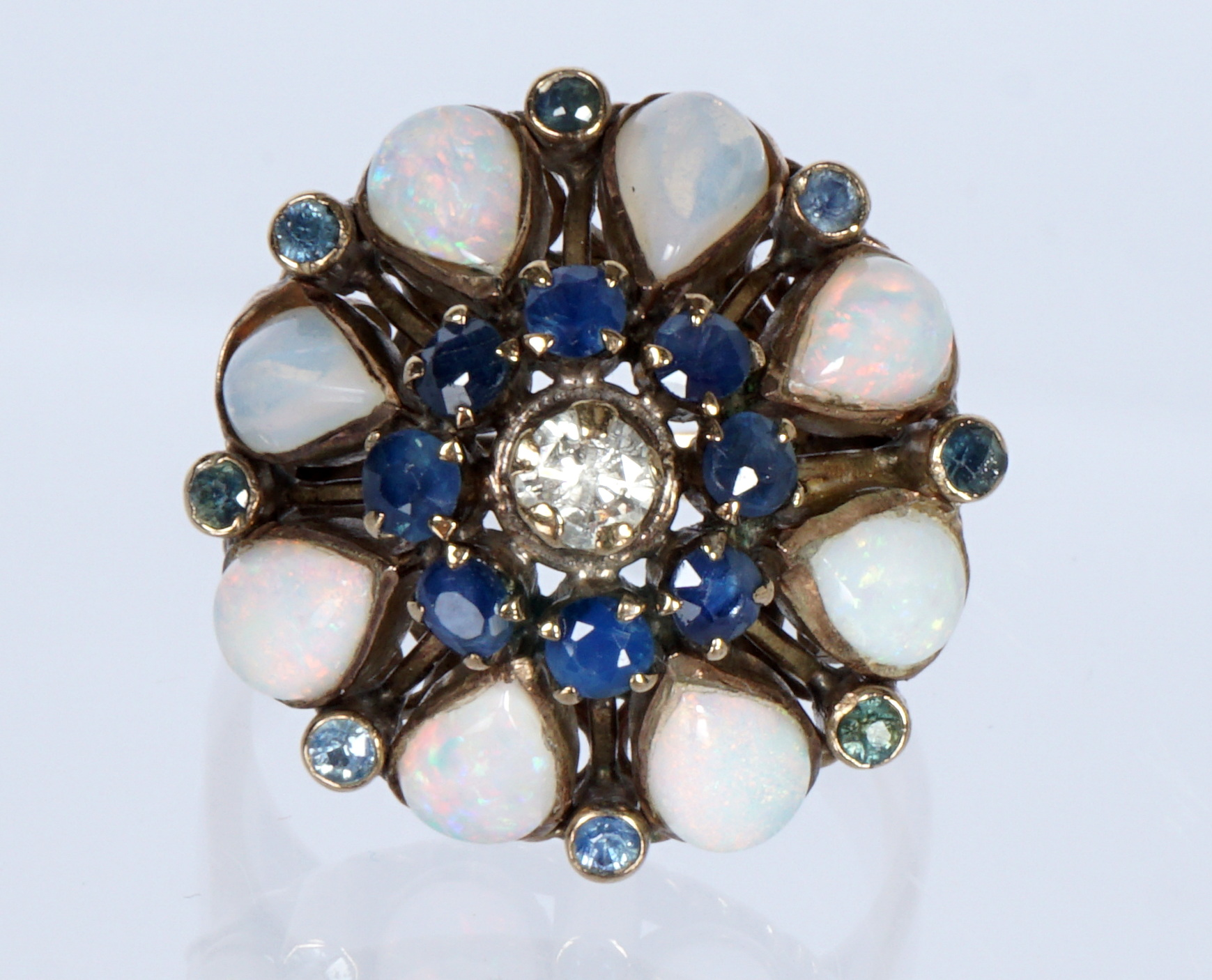 Opal Sapphire Cocktail Ring