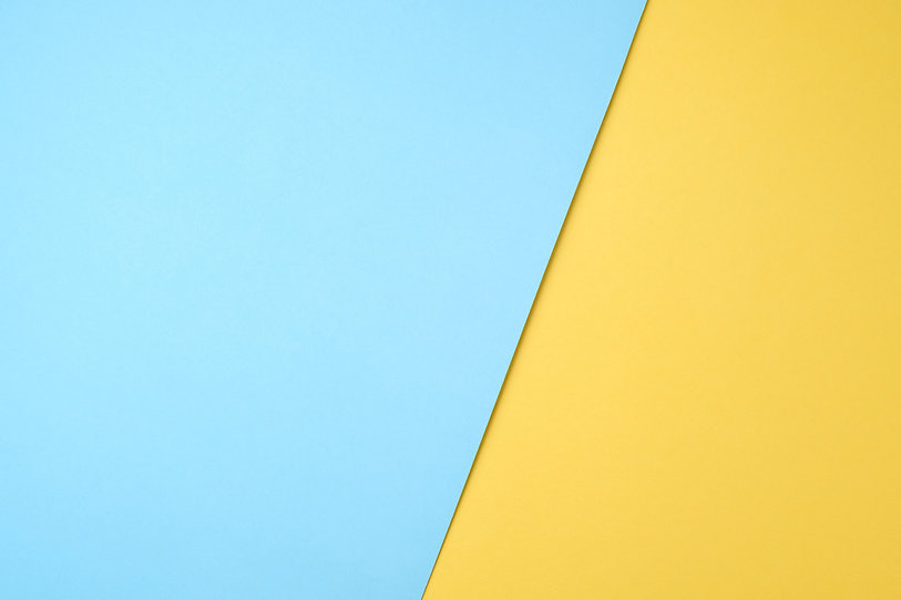 blue and yellow pastel paper color for b