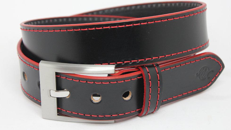 Rote Kanten Gürtel 4cm