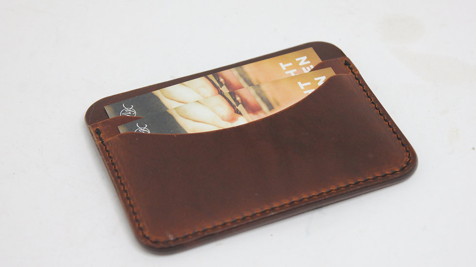 Nr.3 Slim Wallet - Pull Up Leder