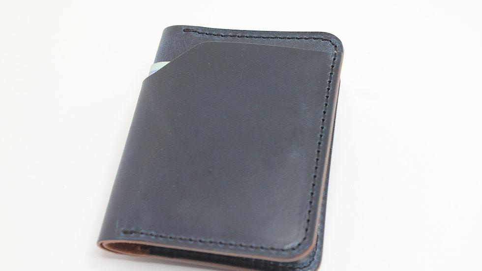MK Slim Wallet - dunkelblau Pull Up